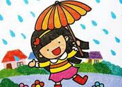 它浓丽鲜艳,沉着厚实,具有特殊的稚拙美感,是儿童学习色彩画的理想图片