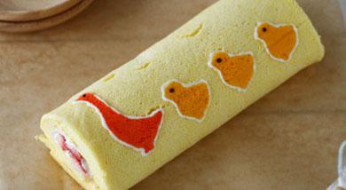 小鸭子蛋糕卷