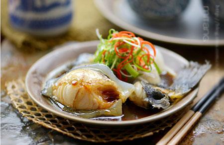 爱吃鱼胸脯营养系列--清蒸冰岛海参斑鱼-爱源鸡食谱和鸡蛋健身图片