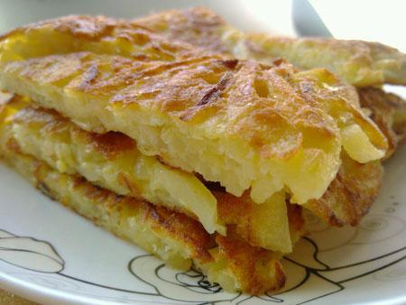 早餐:土豆丝鸡蛋饼 2014年8月3日
