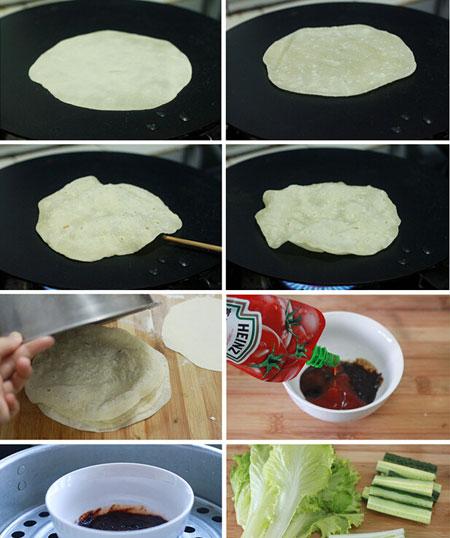 蒸薄饼的做法大全图解