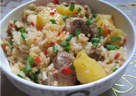 土豆排骨焖饭羊肉海搭配参与食谱图片