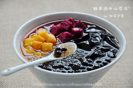 水果西米烧仙草的做法