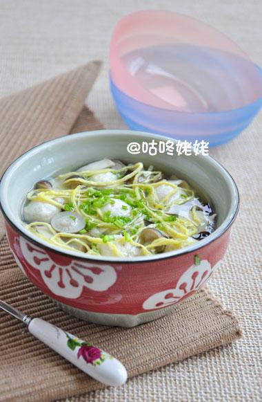 蘑菇豆腐肉丸汤的做法
