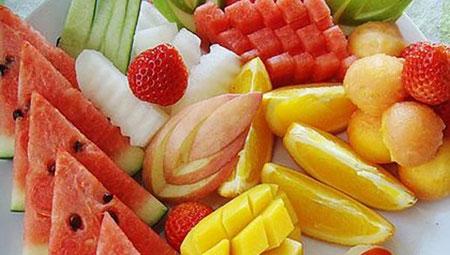 彩色水果拼盘