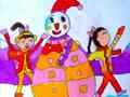 彩色的雪人