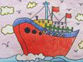 远航的轮船