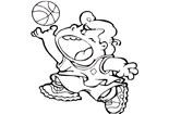 小胖玩花样篮球