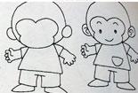 教你画可爱的小猴子