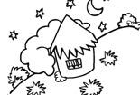简笔画/夜晚的星星