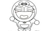 可爱卡通动漫简笔画-哆啦a梦