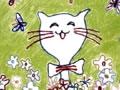 花丛中的小猫