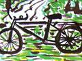 自行车写生