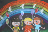 载美丽的彩虹