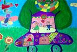 梦想中的爱心树汽车