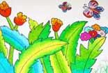 蝴蝶在花丛中
