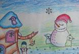 冬天的雪人