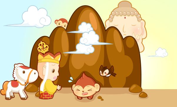 【故事】唐僧收徒   教育点   识字:金、木、水、火、土 五